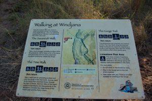 Windjana Gorge sign
