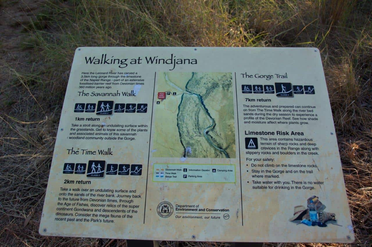 Windjana Gorge sign