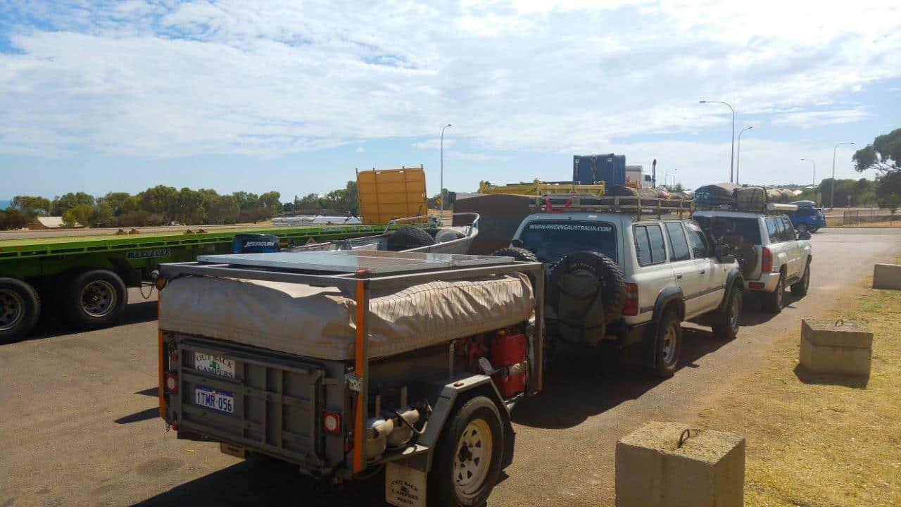 Camper trailer solar