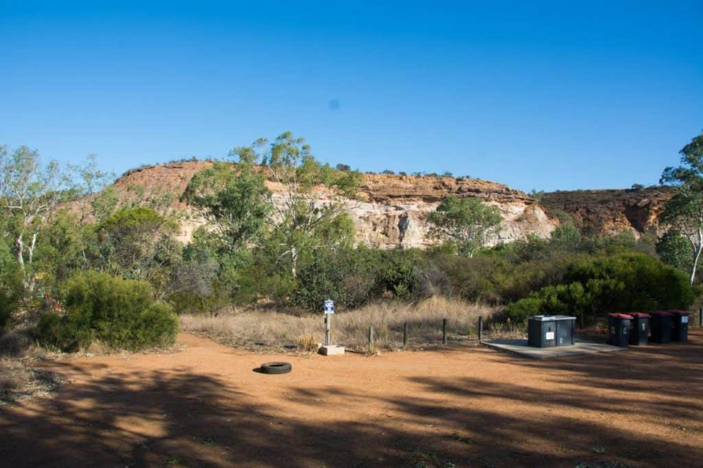 Big rig camping area