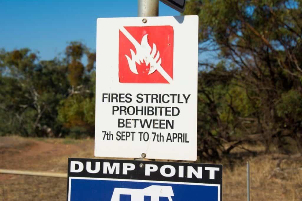Camp fires at Ellendale
