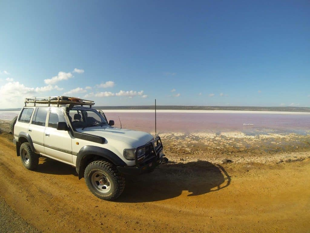 Pink Lake near Port Gregory