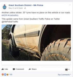 Great southern Police yellow sticker
