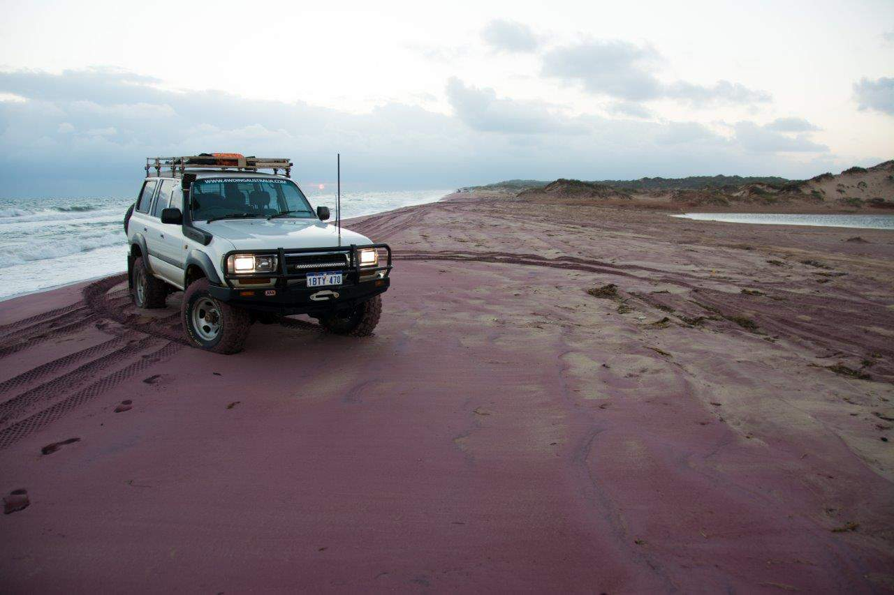 Hutt River pink sand