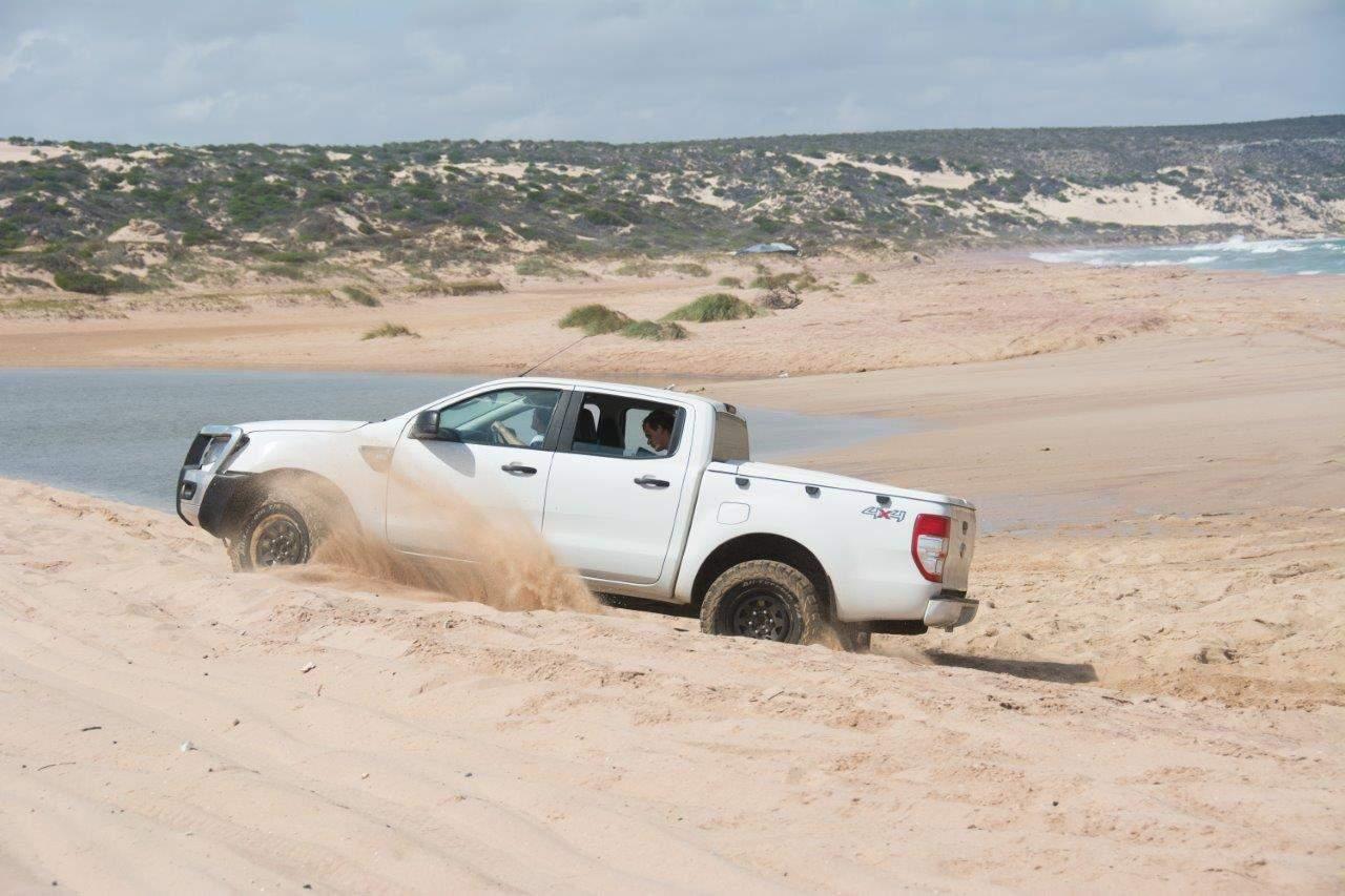 Hutt River beach driving