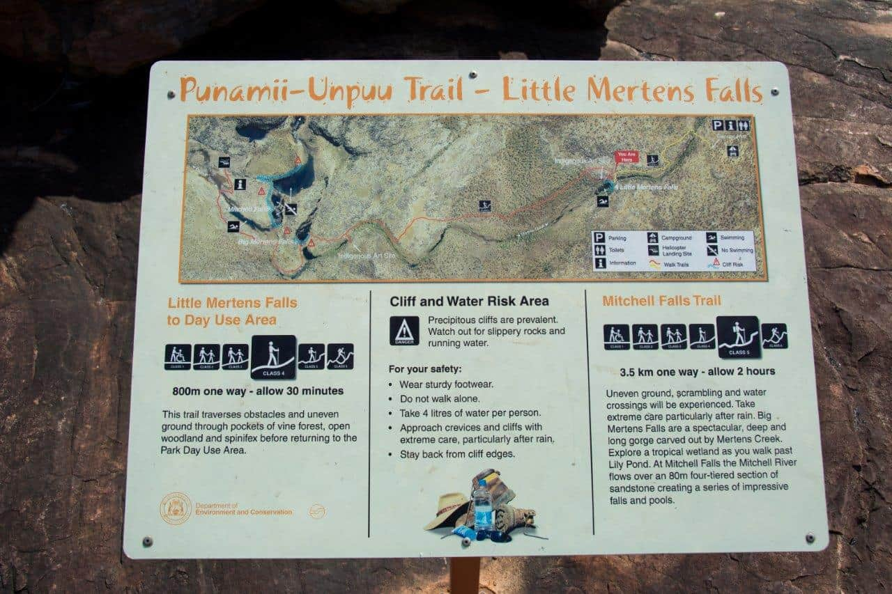 Mitchell Falls Map
