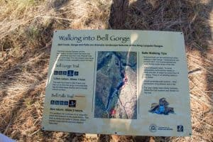 Bell Gorge walk trail information