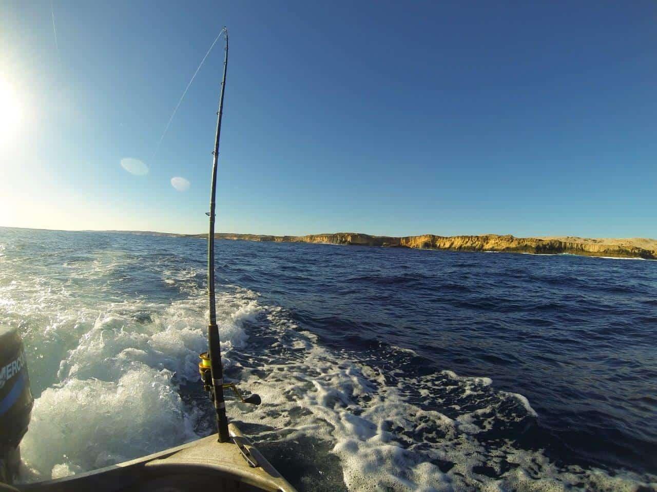 Tinny trawling at Steep Point