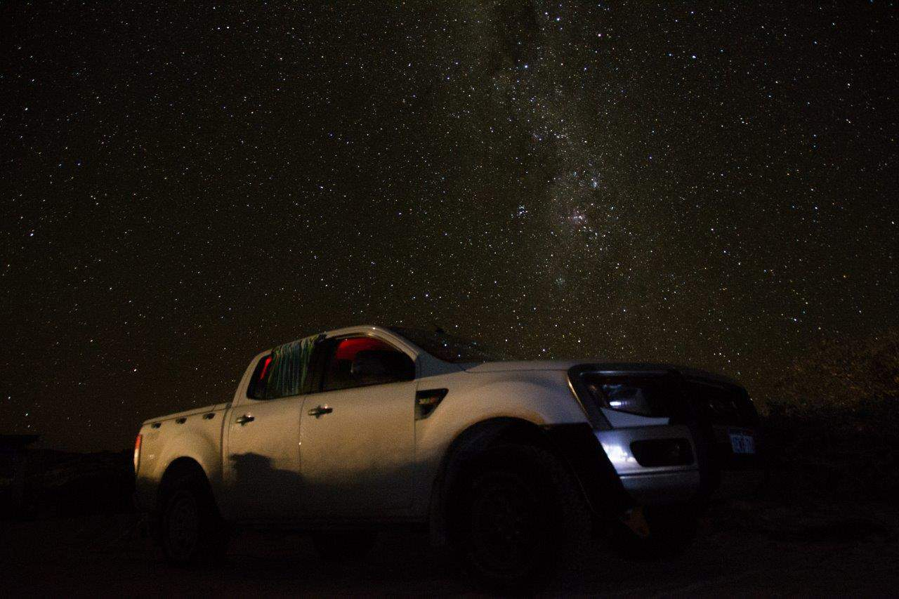 Stars and Ford Ranger at Steep Point
