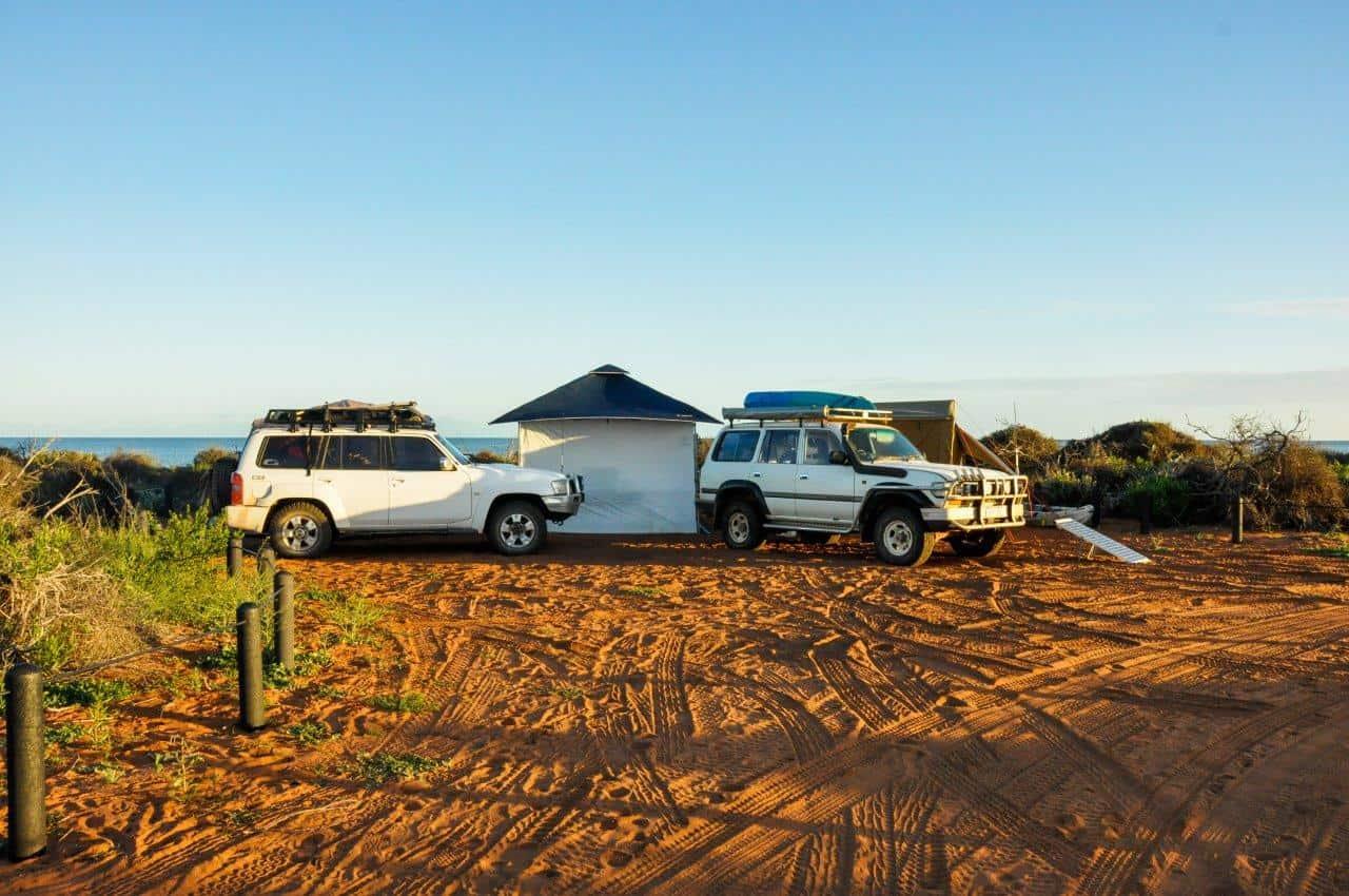 Camping at Francois Peron