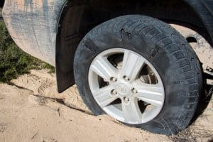 4WD puncture at Dirk Hartog