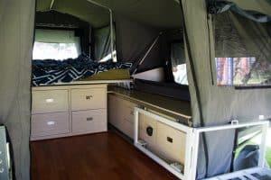 Camper trailer inside