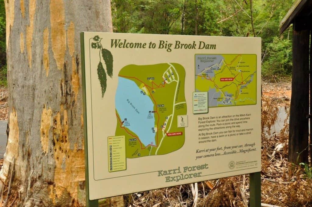 Map of Big Brook Dam Pemberton