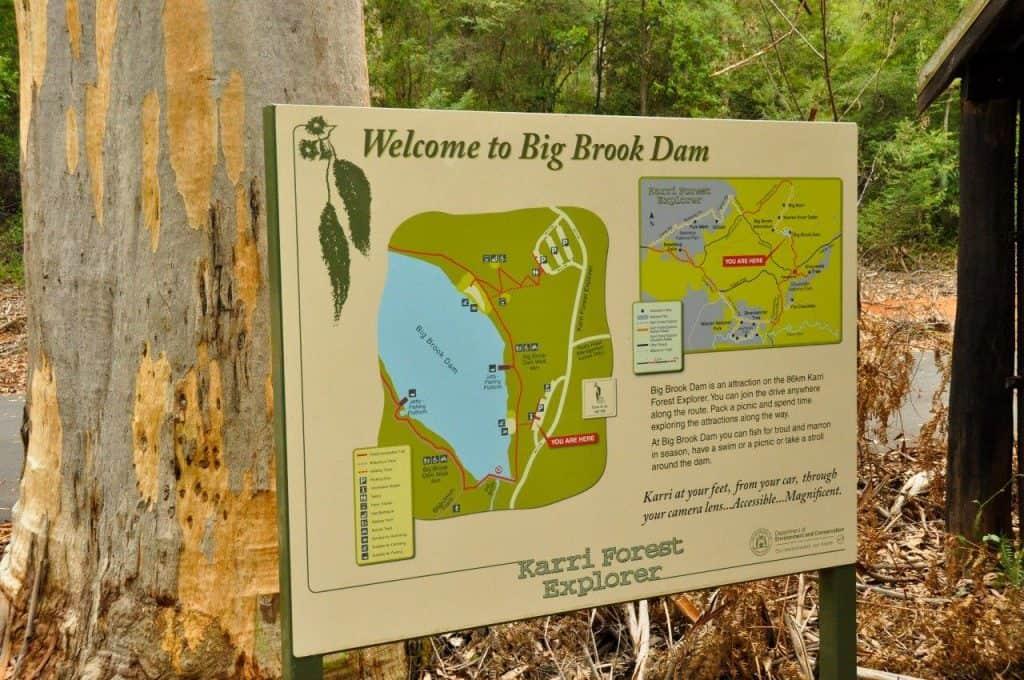 Map of Big Brook Dam Pemberton