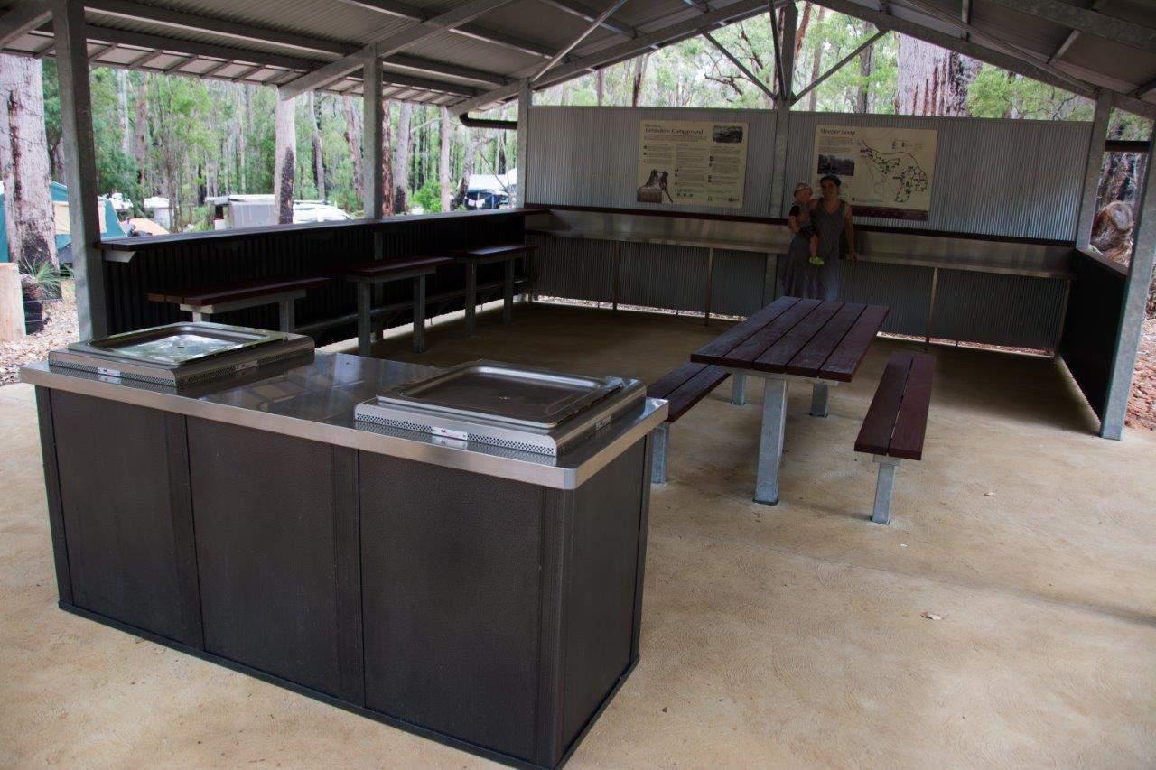 Camp kitchens at Jarrahdene