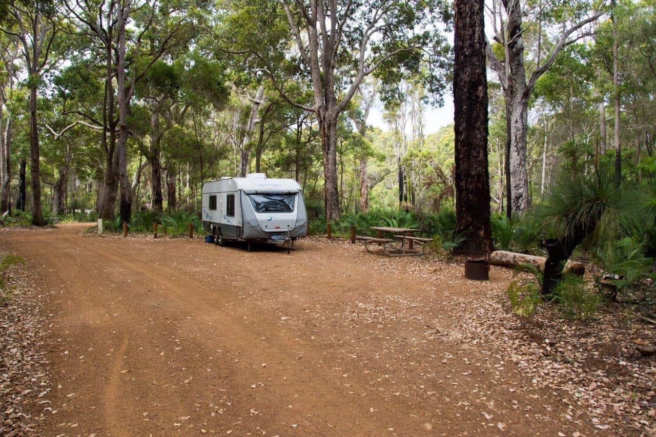 Camping in a Caravan