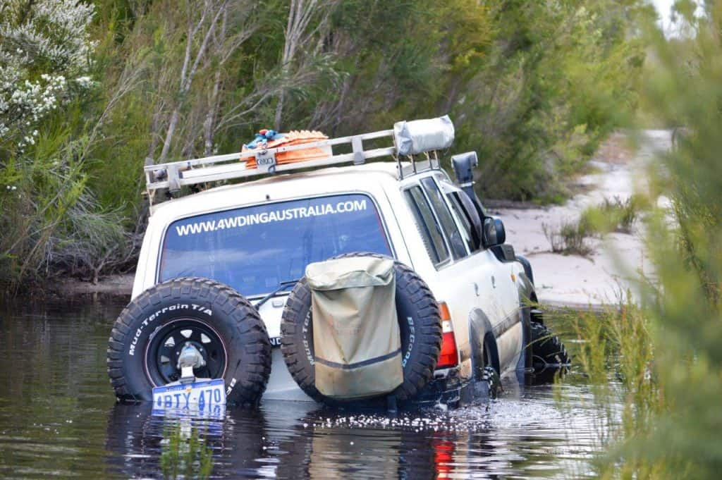 Bogged in our 80 series Land Cruiser