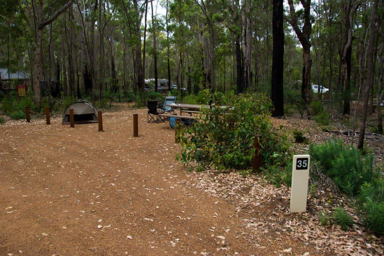Camping at Jarrahdene
