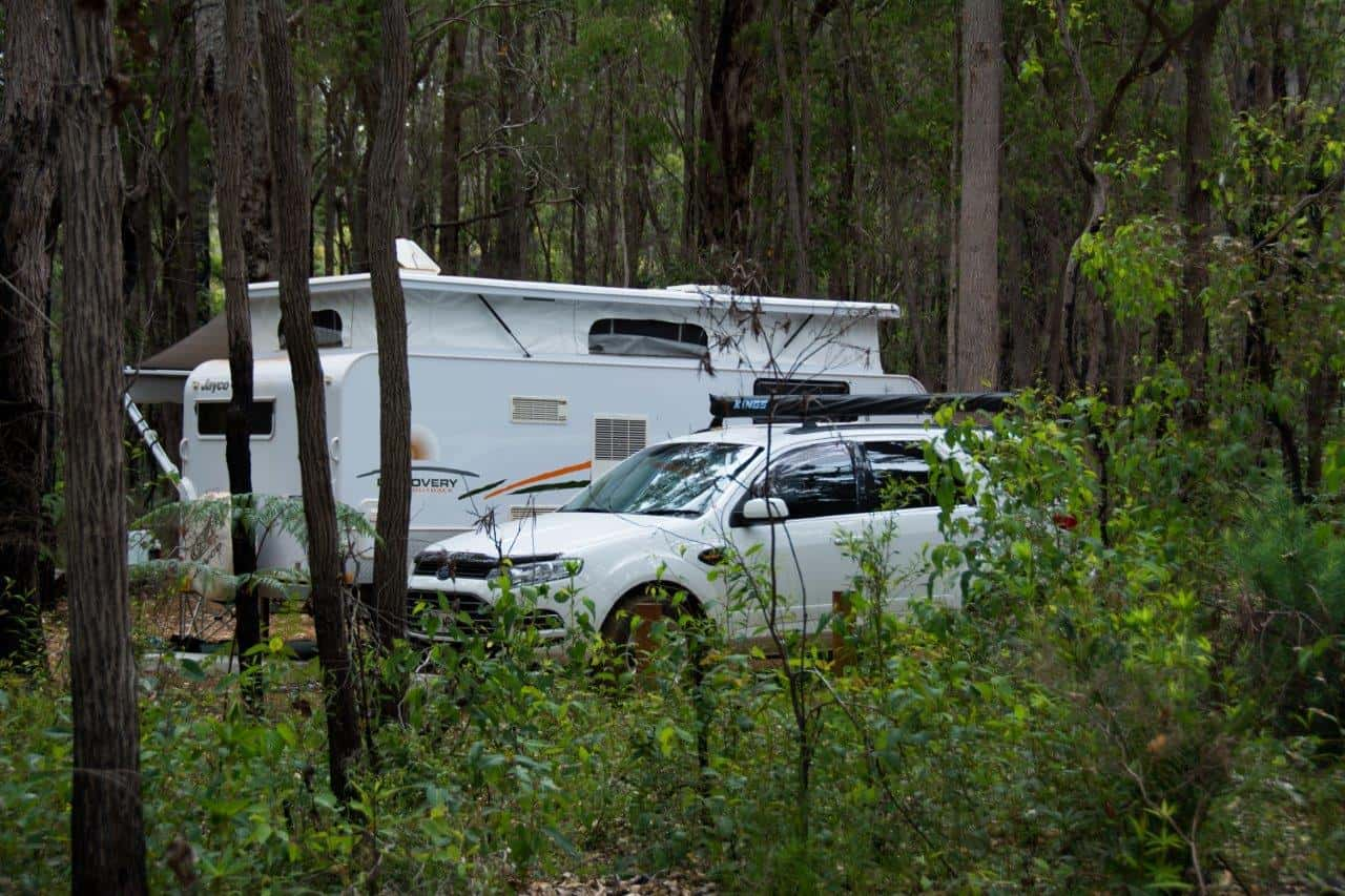 Bush camping at Margaret River