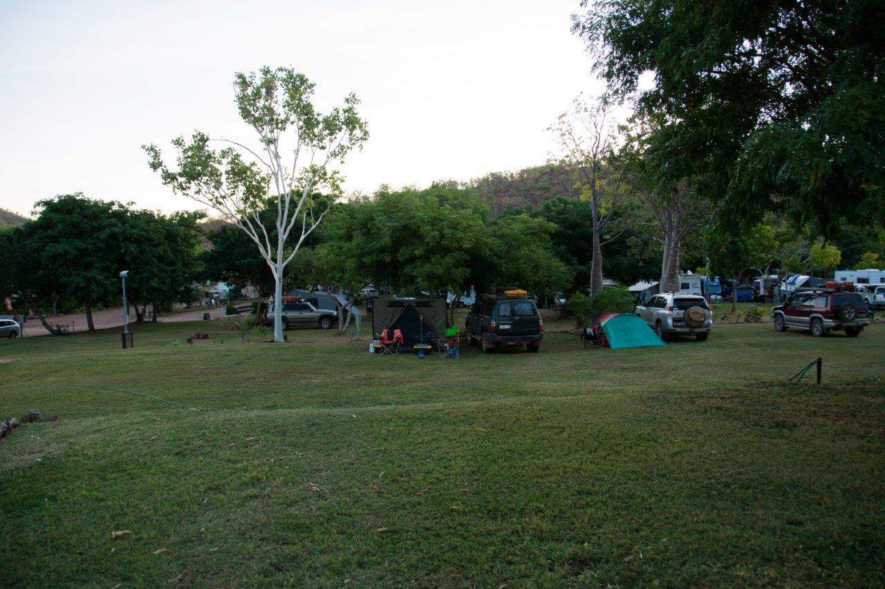 Caravan park at Lake Argyle