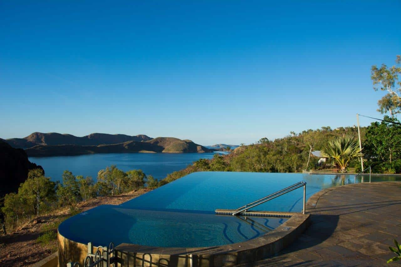 Infinity pool at Lake Argyle