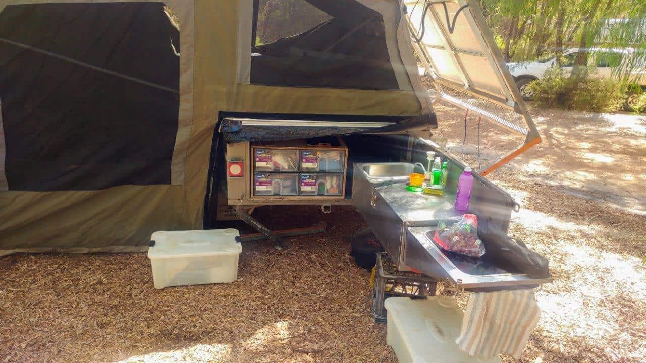 Camper trailer pantry