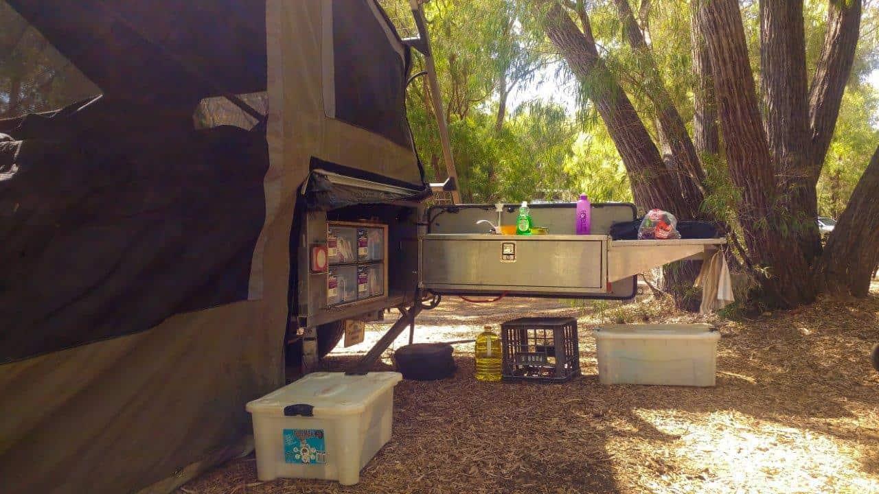 Pantry for camper trailer