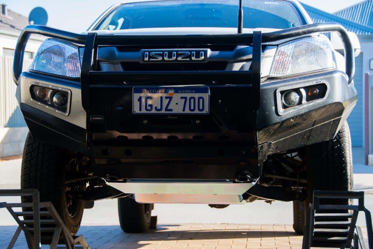 Bash plates on our Dmax