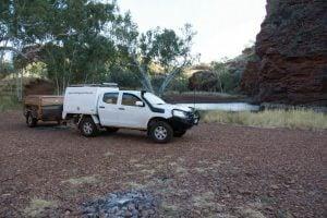 Dmax and soft floor camper trailer