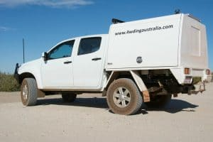 Isuzu Dmax with bigger tyres
