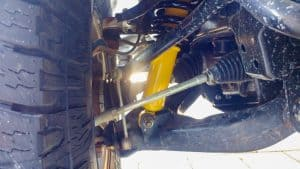 CV damage on an Isuzu Dmax