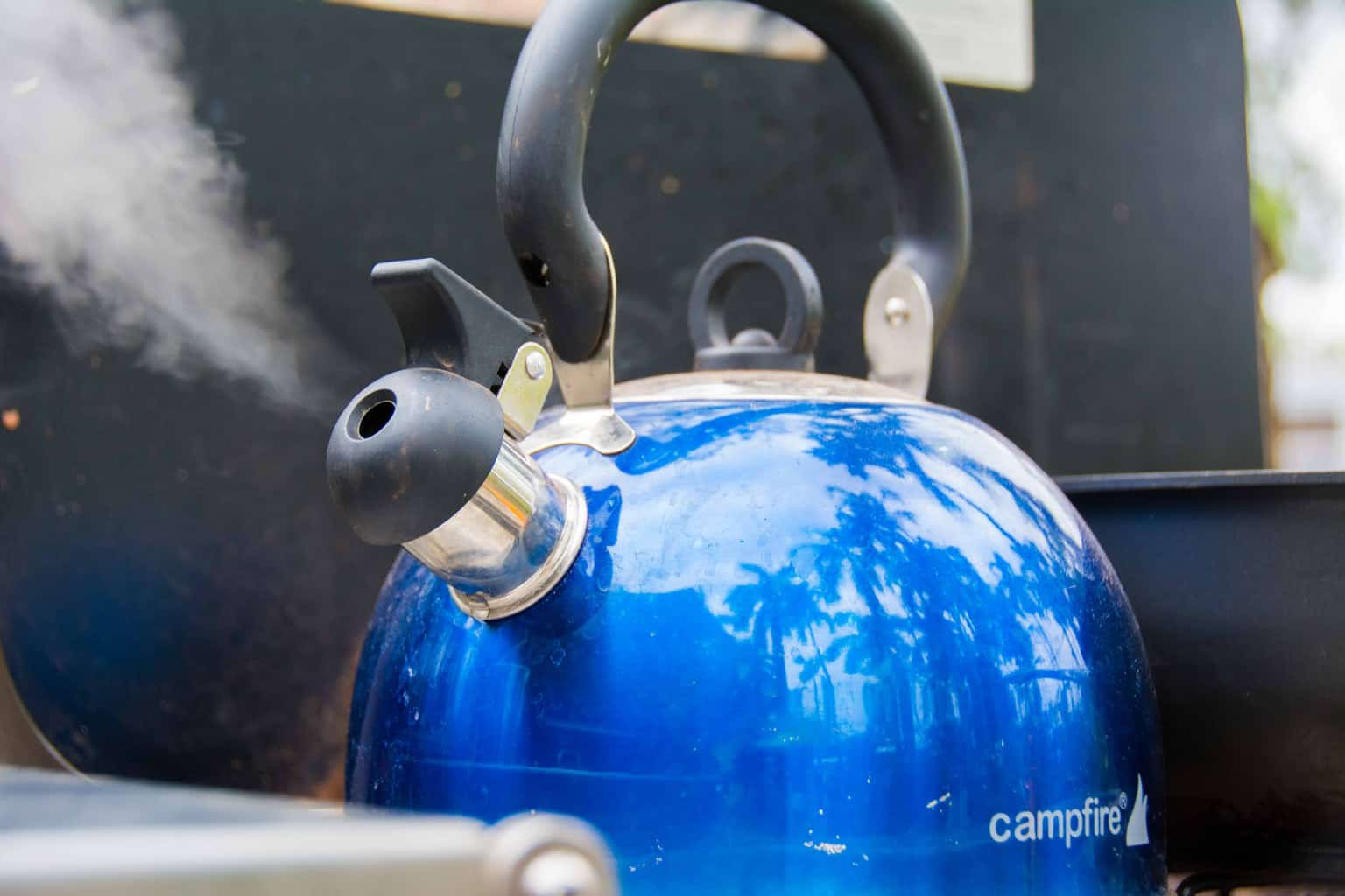 Campfire camping kettle