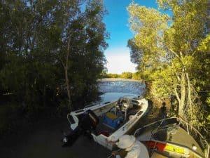 Boat ramp at low tide