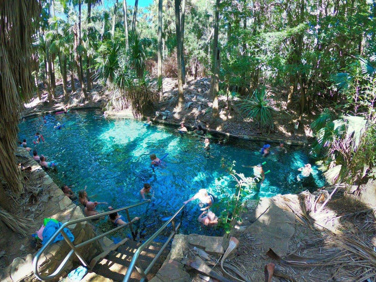 Busy thermal springs