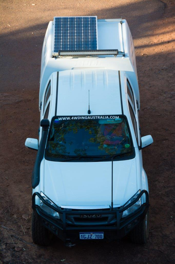Permanent solar on our 4WD