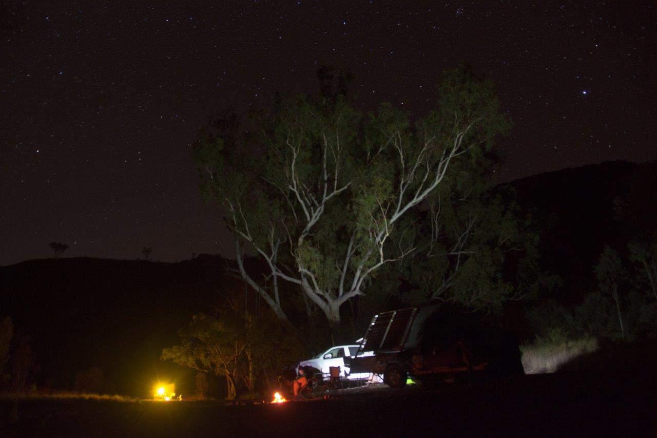 Living the dream in a camper trailer