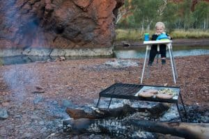 High chair when camping