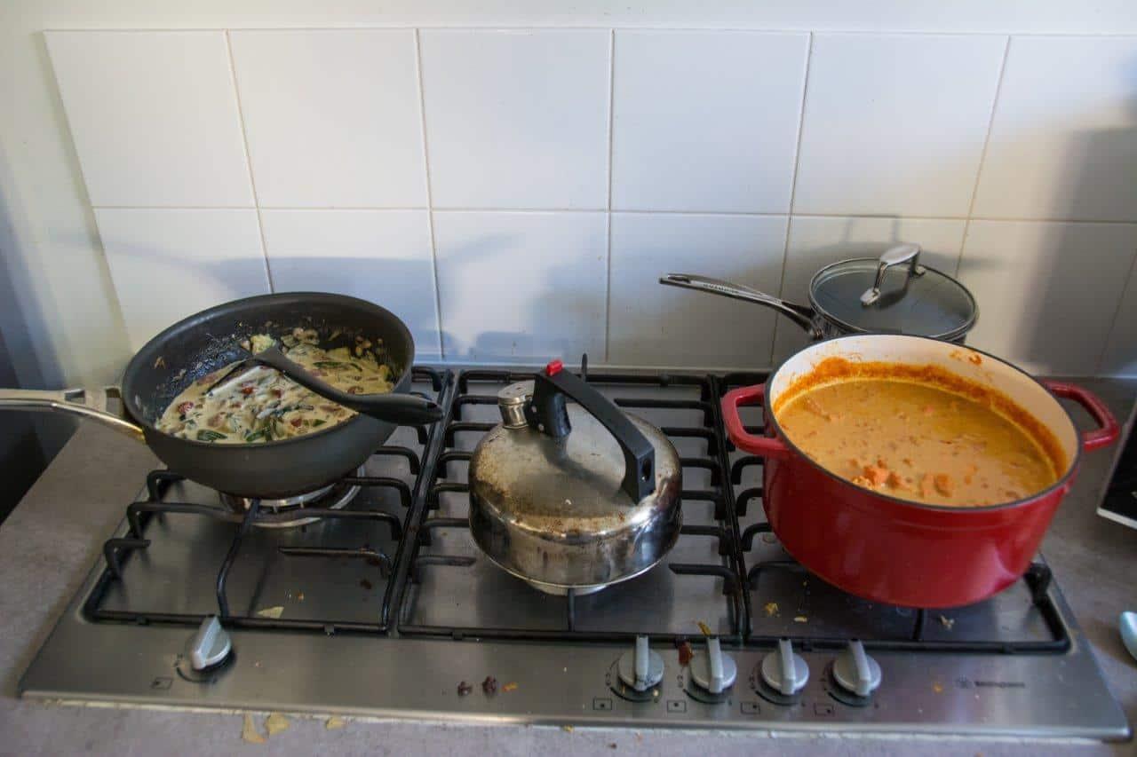 Preparing food at home