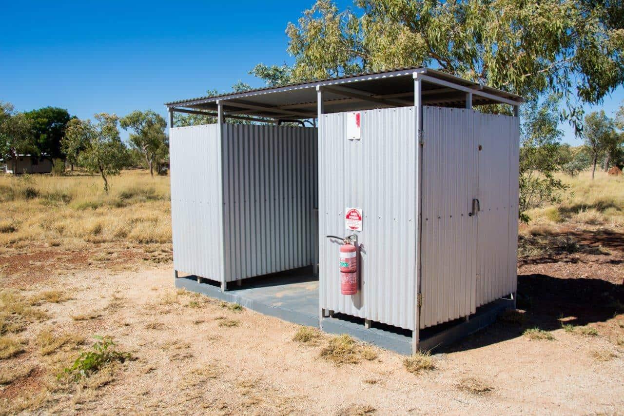 Bush camping with flushing toilet