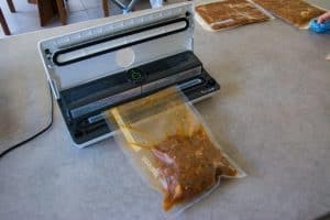 Vacuum sealing for camping