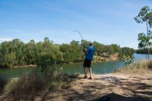 Rosie's fishing at Lorella