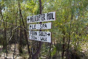 Signage at Lorella Springs