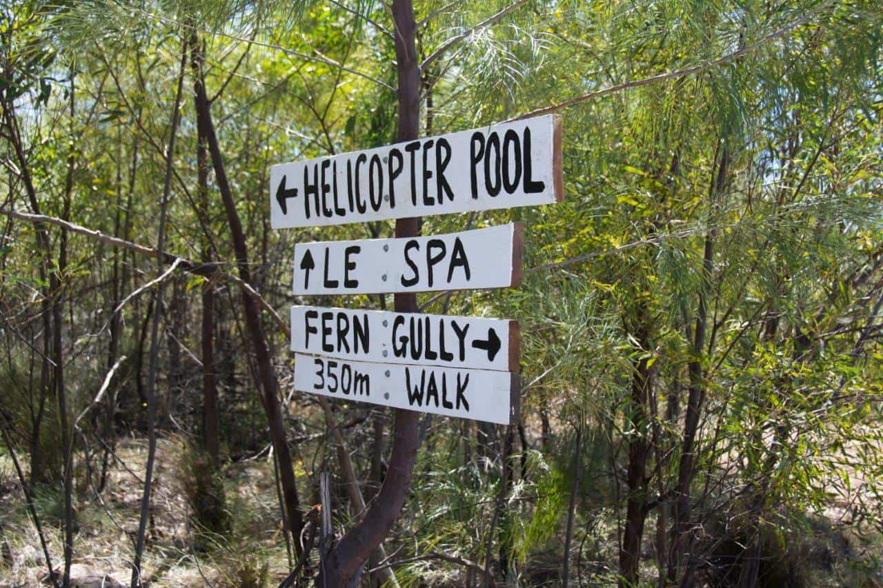 Signage at Lorella Springs