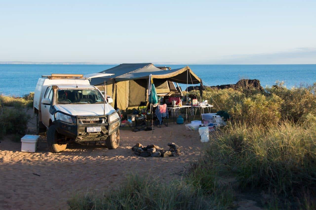 Camper trailer at Cleaverville