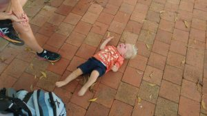 Toddler tantrum travelling Australia