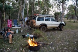 Camp fires sensibly done in the Kimberley