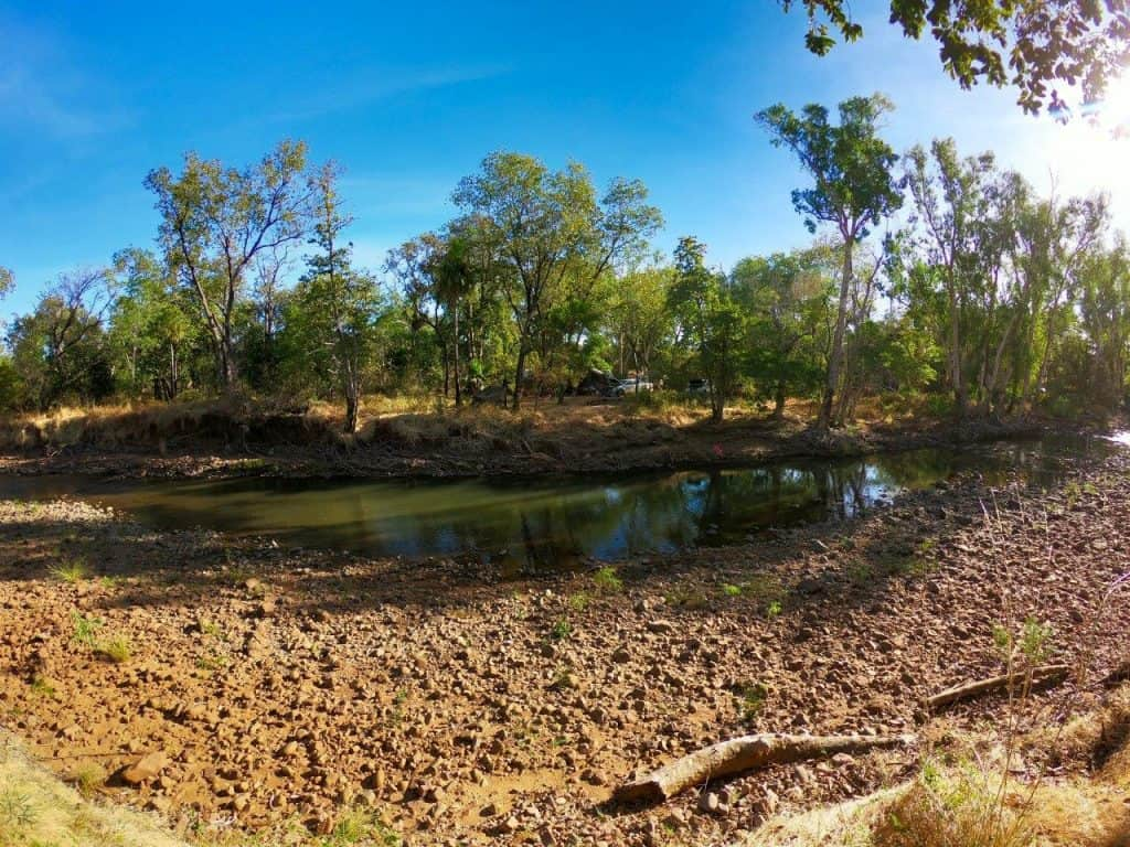 Water disappears in the Kimberley fast