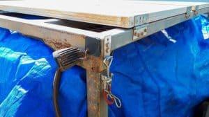 Solar panel system camper trailer