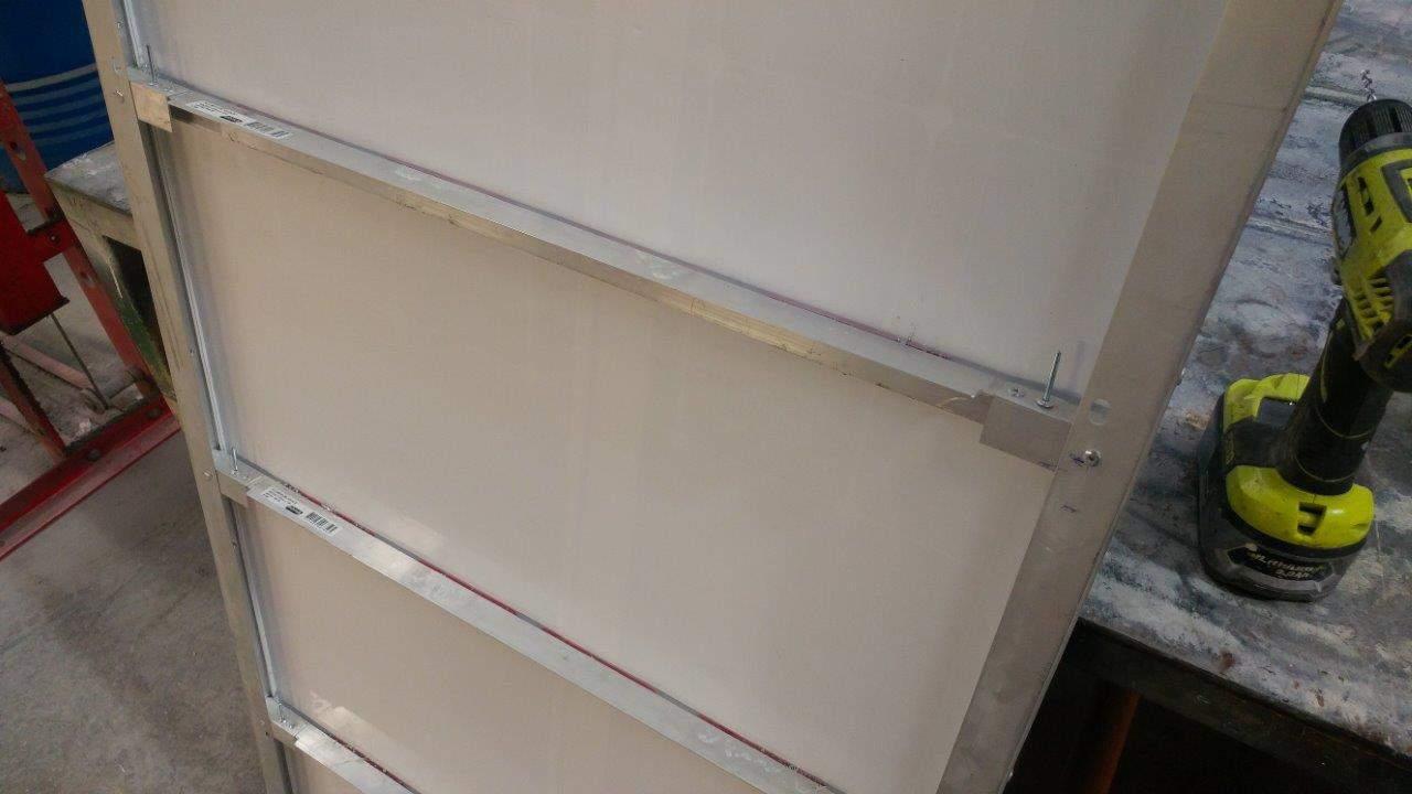Underneath the panel bracing