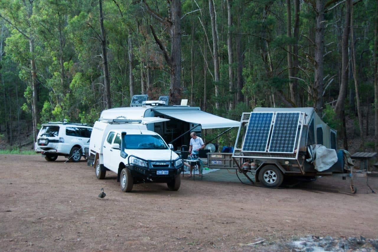 Camping at Dwellingup
